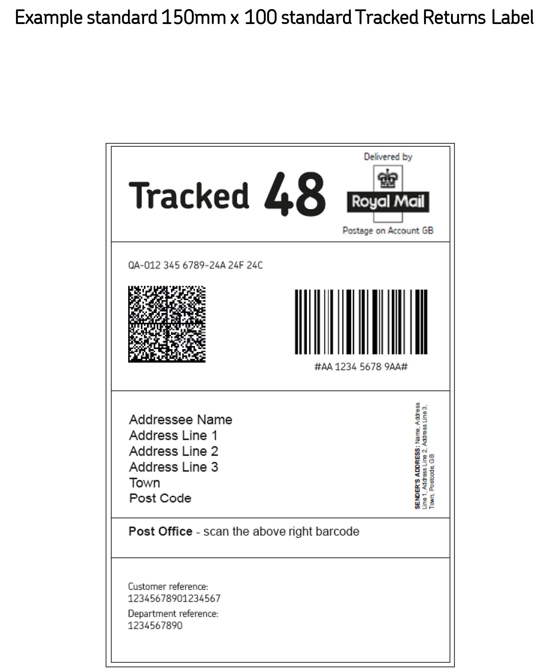 Despatch/Return Notes  Free Return Address Labels Template